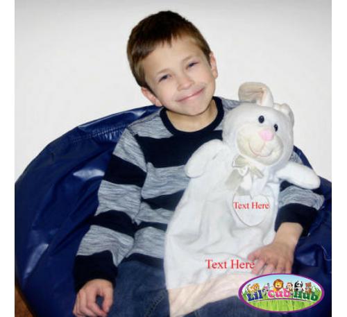 Personalized Baby Gift Stuffed Animal Bunny Rabbit Snuggly Blanket Keepsake, Easter Basket Gift, Monogrammed, Baby Shower Gift