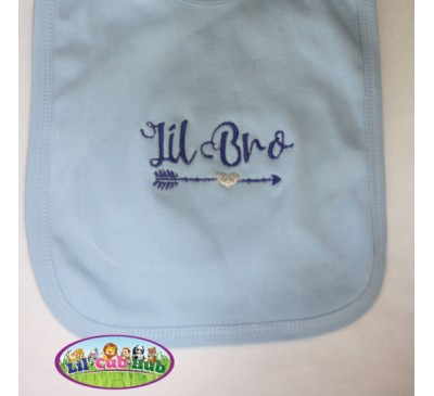 Little Brother, Big Brother Bib or Burp, Pregnancy Announcement, Baby Announcement Bibs and Burp Cloths