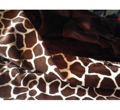 Cream and Brown Giraffe with Brown Smooth Minky (Can be Personalized)