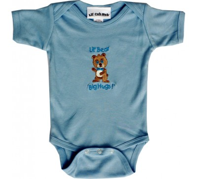 Boy Bear Short-Sleeve Blue Onesie
