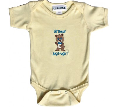 Boy Bear Short-Sleeve Yellow Onesie
