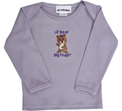 Girl Bear - Long-Sleeve Lavendar T-Shirt