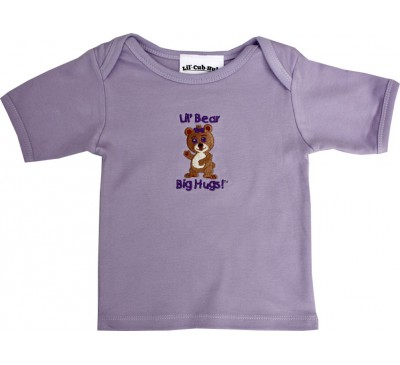 Girl Bear - Short-Sleeve Lavendar T-Shirt