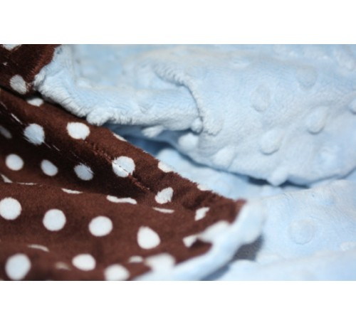 Chocolate Brown and Baby Blue Polka Dot Print/Baby Blue Dot (Can Be Personalized)