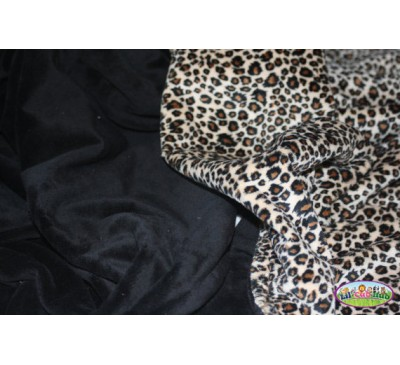 Brown, Black, and Cream Cheetah Print/Black Smooth (Can Be Personalized)