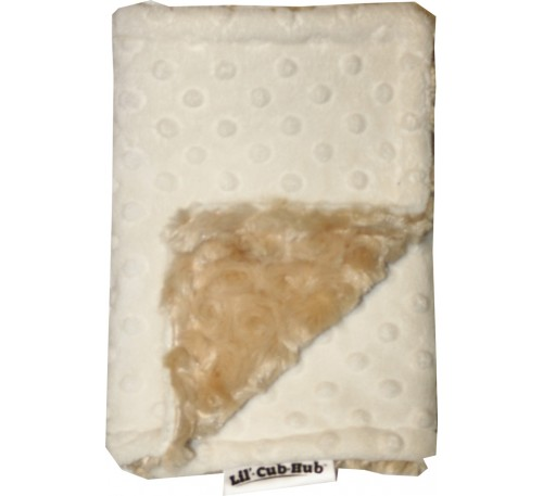 Cream Minky Dot/Camel Swirl Burp Cloth