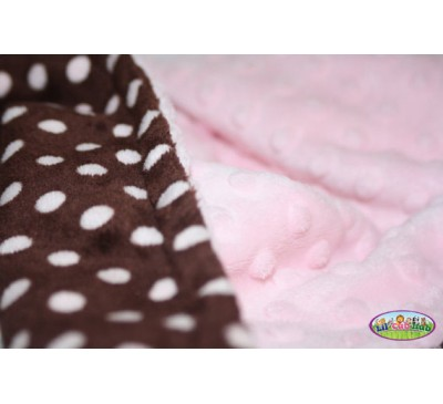 Chocolate Brown and Pink Polka Dot Print/Baby Pink Dot (Can Be Personalized)