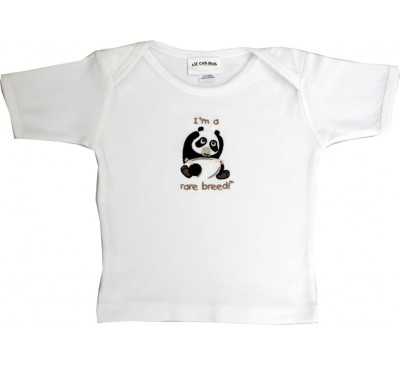 Panda Short-Sleeve White T-Shirt